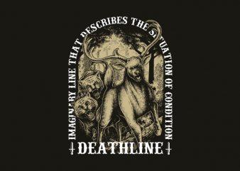 deathline t-shirt design buy t shirt design