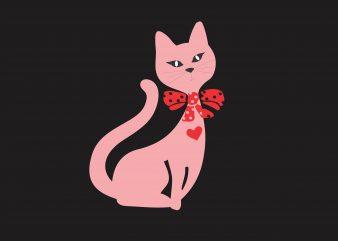 Pink Kitty buy t shirt design