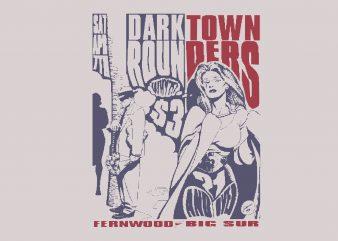 Dark Town t shirt vector illustration