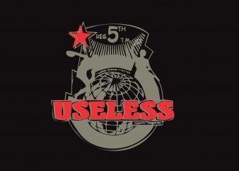 Useless t shirt vector graphic