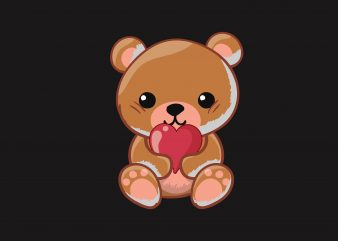 Baby Bear Love buy t shirt design