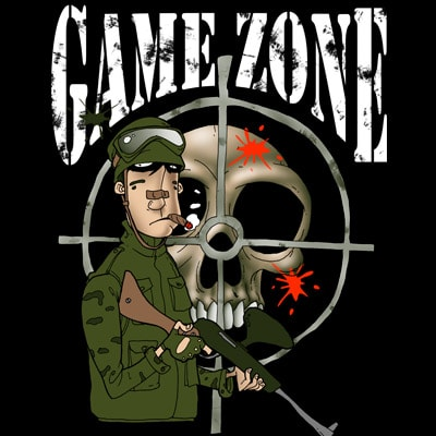 GAME ZONE t shirt design template