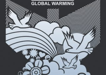 STOP GLOBAL WARMING t shirt vector