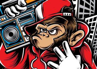 Hiphop Ape graphic t shirt