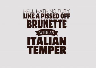 Italian Temper t shirt design for sale