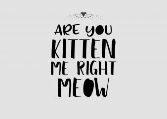 Are You Kitten Me Right Meow buy t shirt design