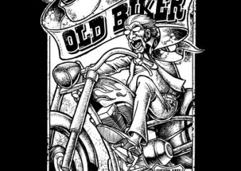 OLD BIKER buy t shirt design