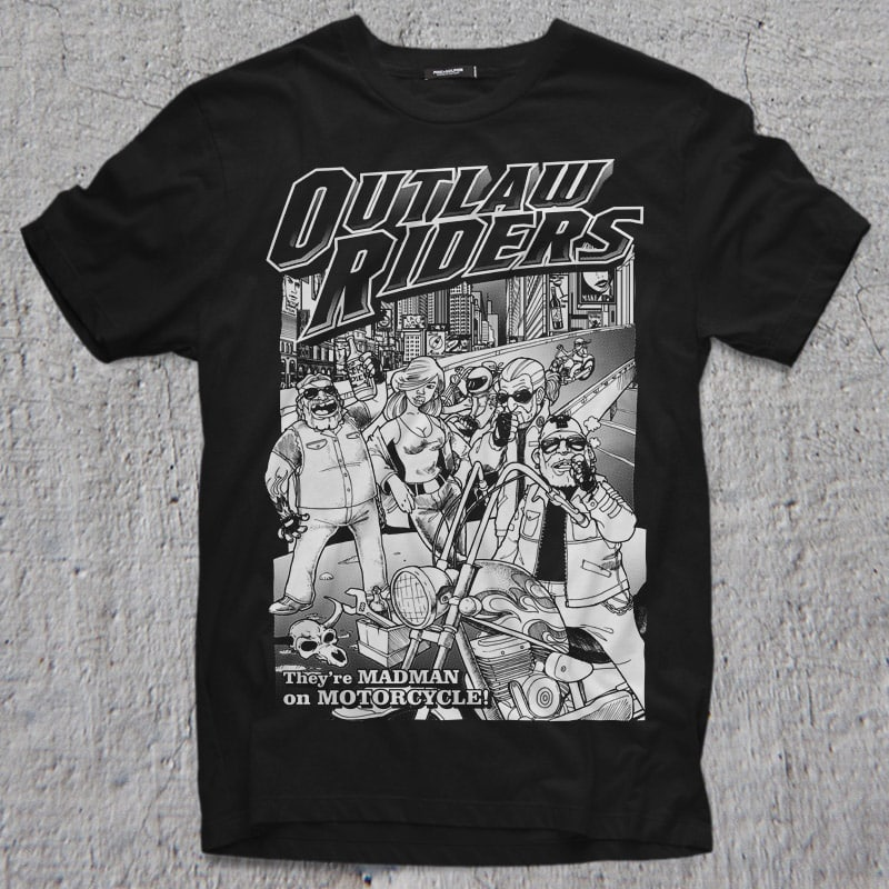 OUTLAW RIDERS buy t shirt design