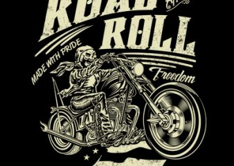 ROAD AND ROLL buy t shirt design