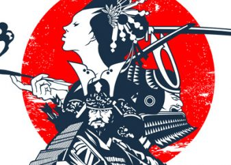 SAMURAI t shirt template vector