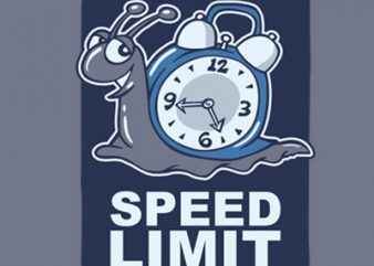 SPEED LIMIT t shirt template vector
