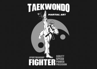 taekwondo high kick t shirt designs for sale