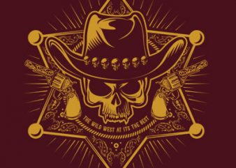 THE WILD WEST buy t shirt design