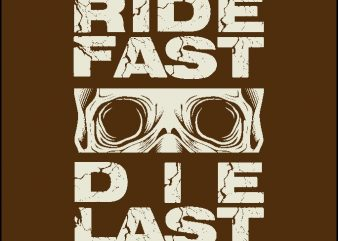 Vector t-shirt designs skull bikers ride fast