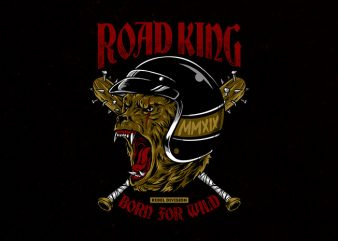 road king Graphic t-shirt design t shirt template