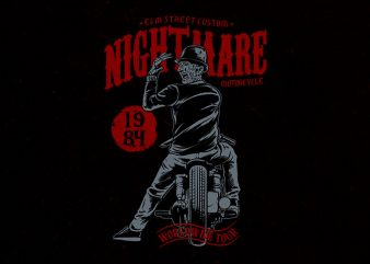 nightmare rider Graphic t-shirt design