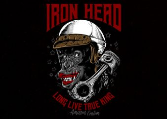 iron head Graphic t-shirt design buy t shirt design