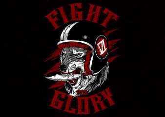 fight for glory tshirt design buy t shirt design