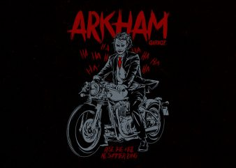 arkham garage Graphic t-shirt design