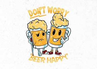 happy beer Graphic t-shirt design buy t shirt design