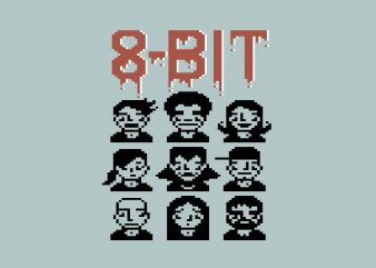 8 Bit Graphic buy t shirt design