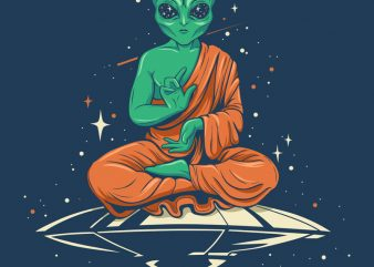 Alien Buddha buy t shirt design
