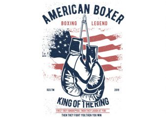 American Boxer t shirt vector