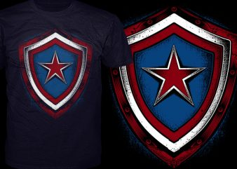 American Shield t shirt vector