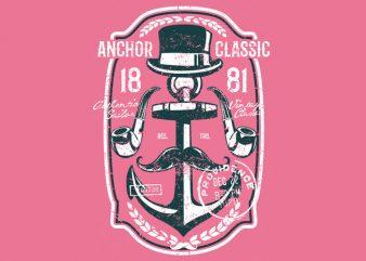 Anchor Classic t shirt vector