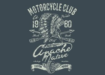 Apache Motor Club t shirt vector