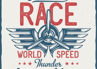 Endurance Race. Vector T-Shirt Design