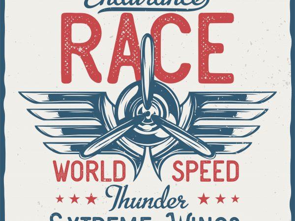 Endurance Race. Vector T-Shirt Design