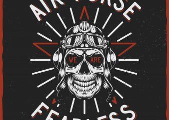 Air Force. Vector T-Shirt Design t shirt template
