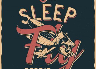 Eeat. Sleep. Fly. Repeat. Vector T-Shirt Design buy t shirt design