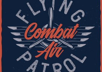 Flying Patrol. Vector T-Shirt Design