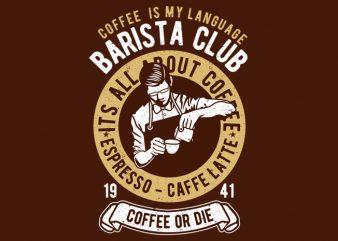 Barista t shirt template