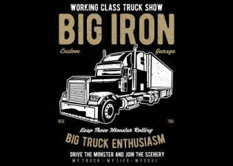 Big Iron t shirt template