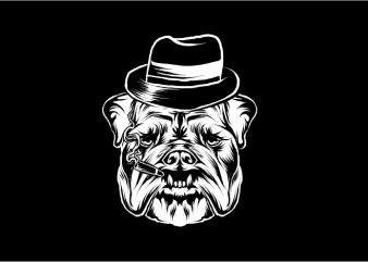 Bulldog Mafia t shirt template