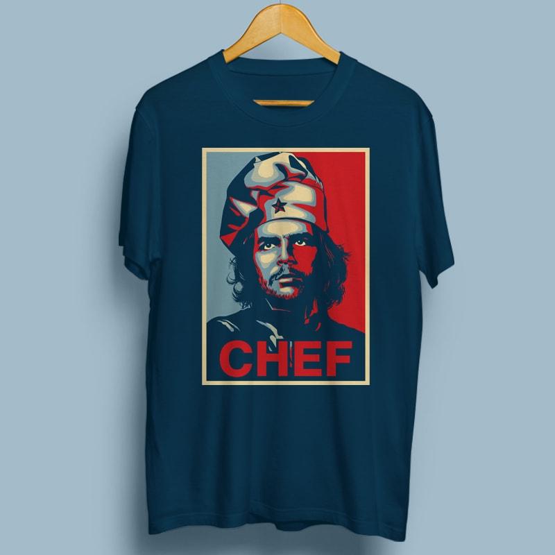 CHEF GUEVARA buy t shirt design