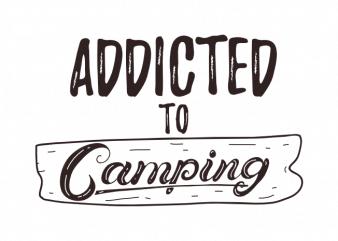 Camping outdoor camp hiking saying kids scout vector t shirt printing design buy t shirt design