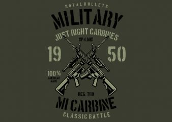 Carbine t shirt vector file