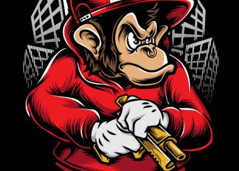 Chimpz t shirt vector file