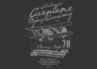 Classic Airplane t shirt vector file