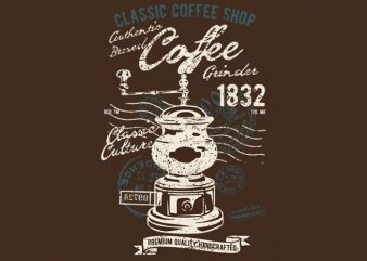 Classic Coffee Grinder buy t shirt design