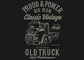 Classic Vintage Truck t shirt vector file