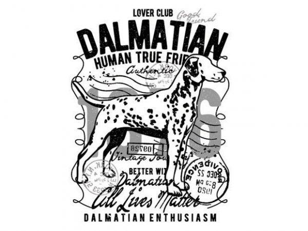 Dalmatian t shirt vector illustration