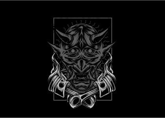 Demon Engine t shirt vector illustration