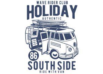 Holiday Surf Van graphic t shirt