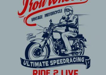 Iron Wheels buy t shirt design