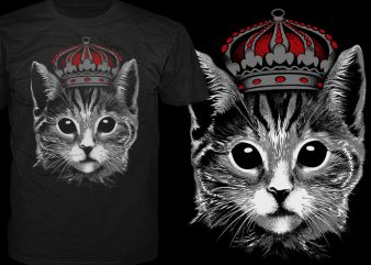 King Cat t shirt vector art